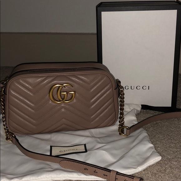 214f6fa895a Gucci Handbags - GG Marmot Matelasse Small Shoulder Bag